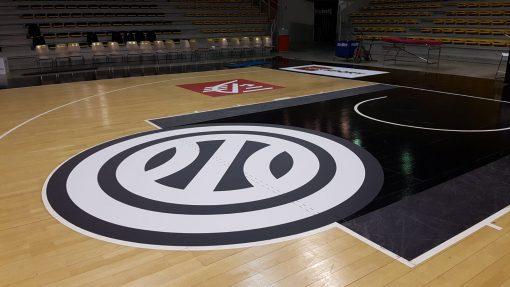 Habillage sol pour France Russie basket Rhenus