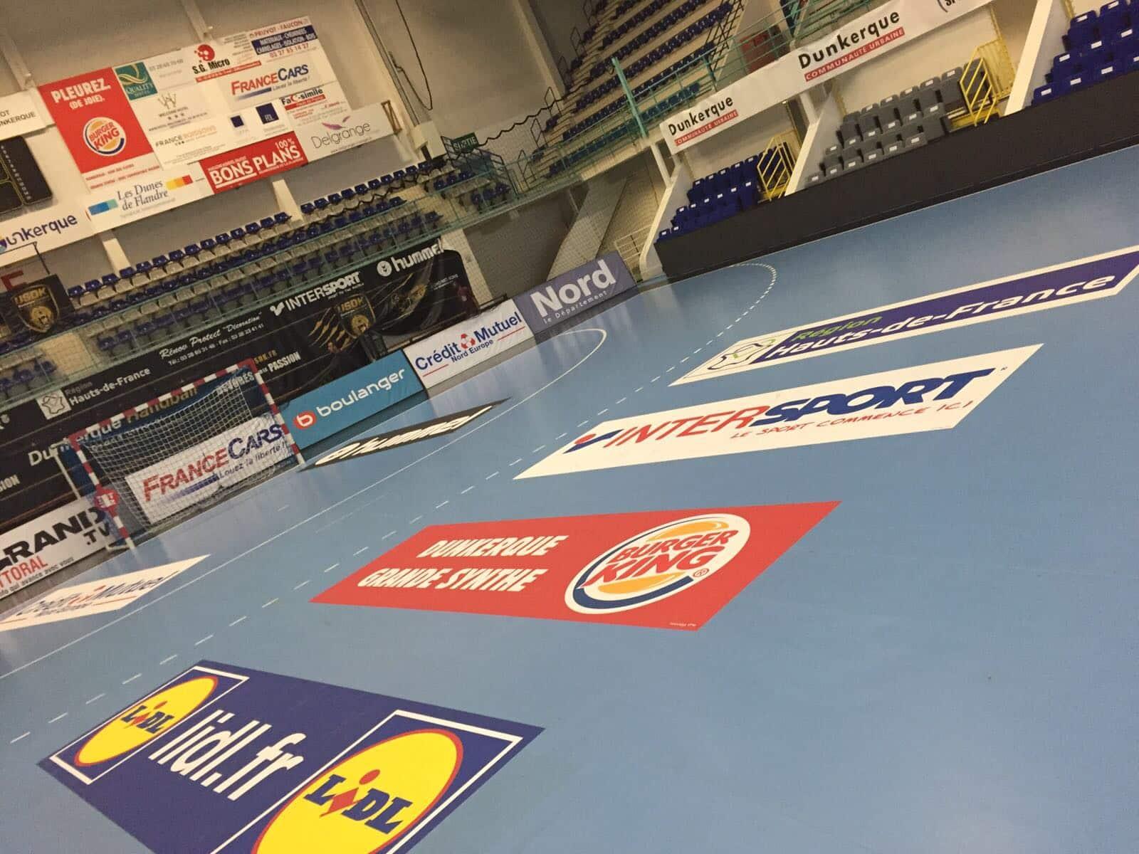 Marquage au sol terrain de handball