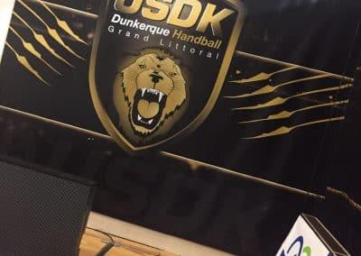 habillage tribunes handball USDK