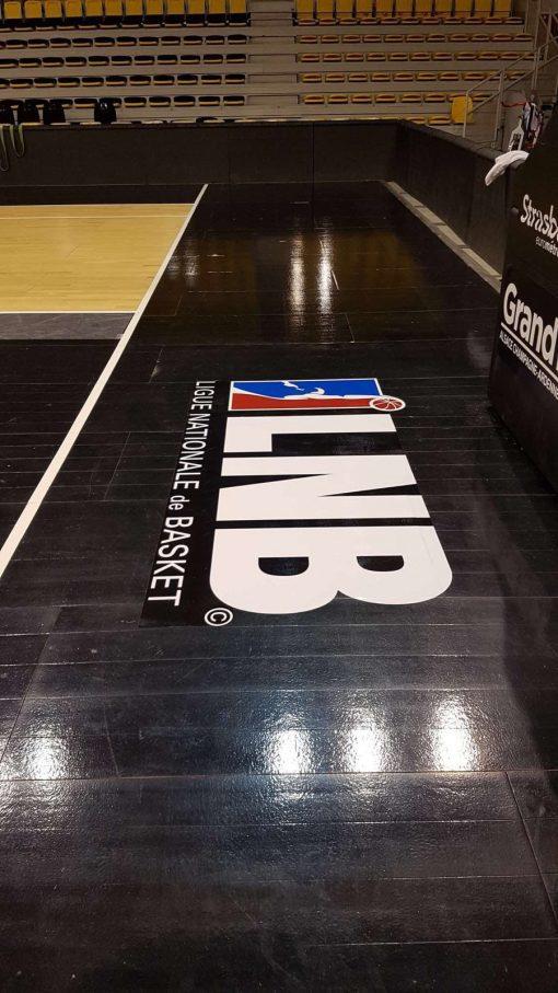 Marquage terrain de basket -LNB