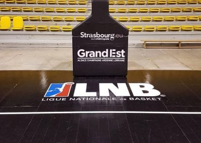 Lettrage terrain de basket - LNB