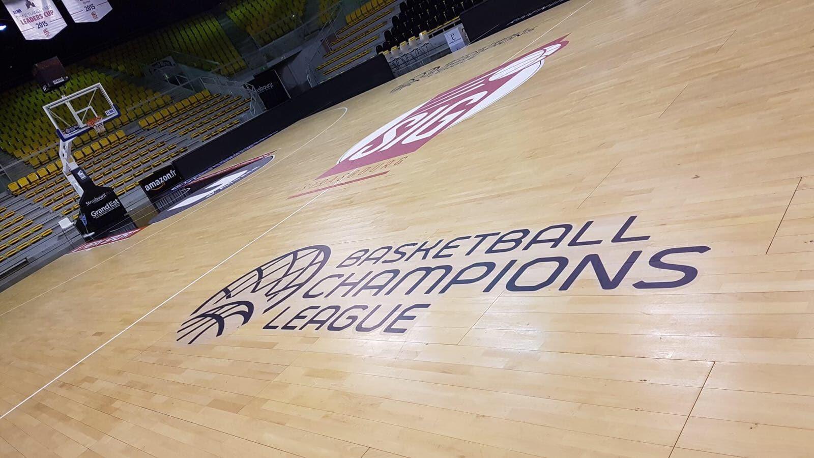 lettrage adhésif champions league basket