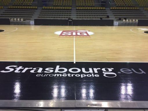 marquage terrain de basket - Strasbourg