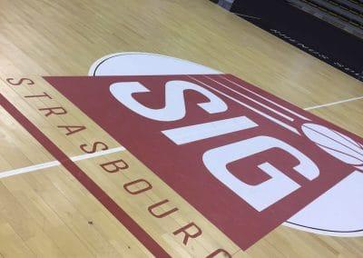 marquage terrain de basket - SIG Strasbourg