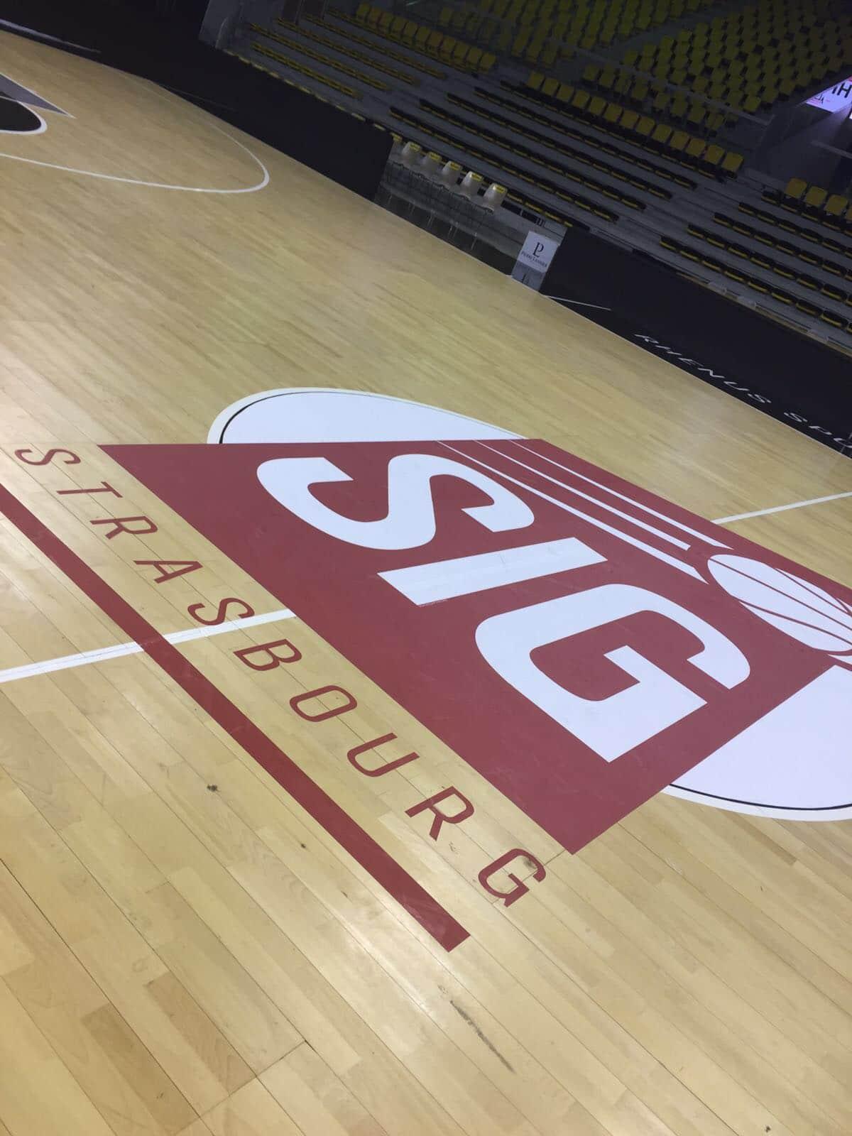 adhésif rond central SIG Strasbourg Basket