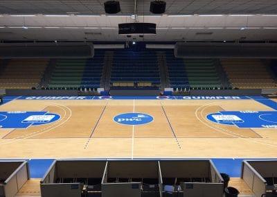 Marquage terrain de basket de l'UJAP