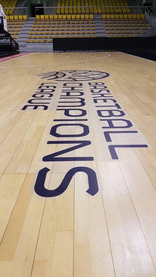sticker antidérapant repositionnable Champions League de basket - SIG Strasbourg
