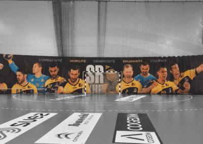 Habillage de terrain de handball