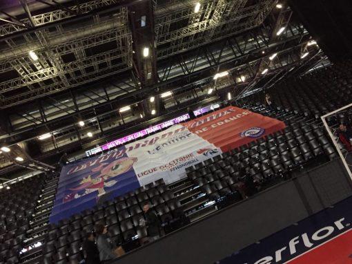 Tifo géant équipe de france handball