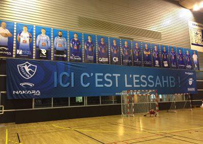 impression grand format fond de but handball