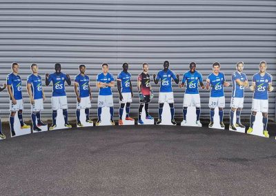 Silhouette sportif taille réelle RCSA