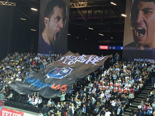 Tifo format géant montpellier handball