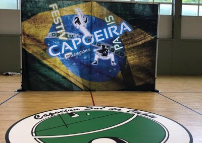 habillage evenement capoeira