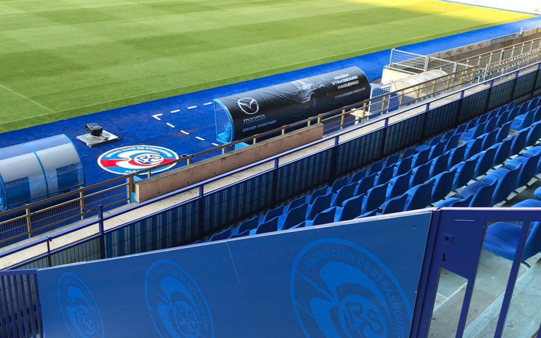 Habillage du stade de Strasbourg par Nakara Sport