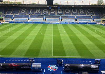 Habillage de stades Branding stade par Nakara Sport