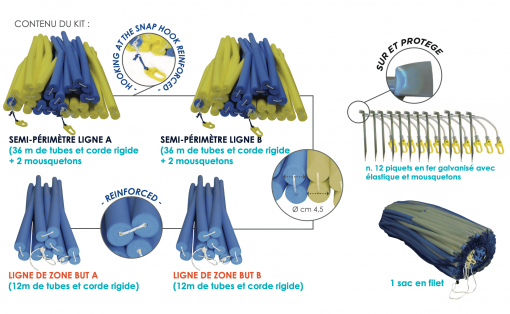 Kit de delimitation de terrain de beach handball competition-Nakara Sport