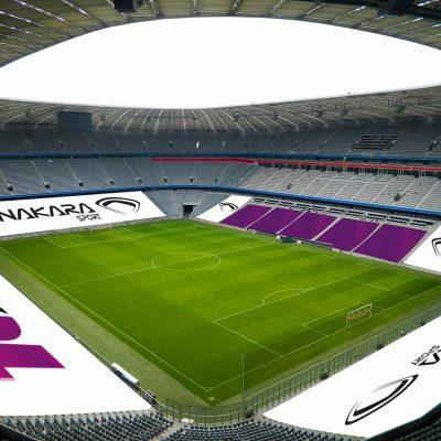 Habillage tribunes et gradins de stade de foot - Nakara-Sport