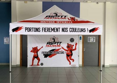 Tente boutique supporter mulhouse asptt