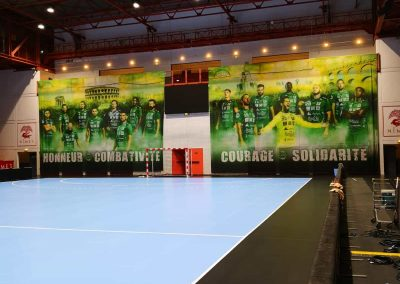 impression grand format arriere but hand ujsam handball