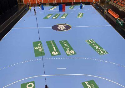 marquage publicitaire terrain hand usam handball