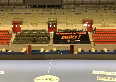 Habillage gradins handball pro