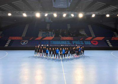 Habillage tribune MHB Handball realisation Nakara-Sport