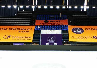 Habillage tribunes lidl starligue handball nakara-sport