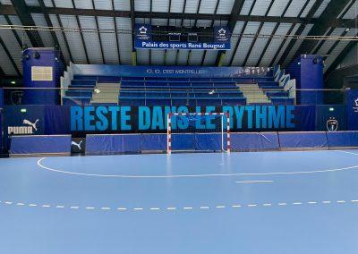 habillage terrain de handball et arena