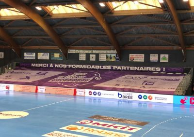 Tifo geant cherbourg handball covid
