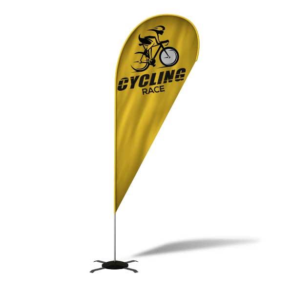 Impression Beach flag  pour course cycliste
