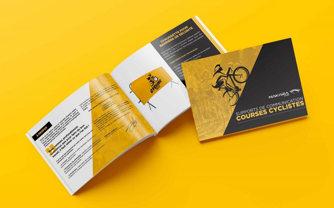 Découvrez notre catalogue de supports de communication pour course cycliste