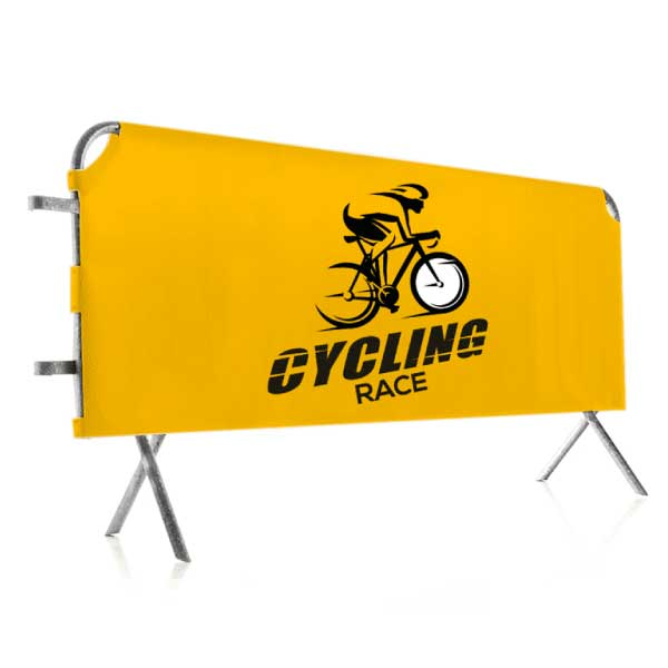Habillage barrière vauban pour course cycliste