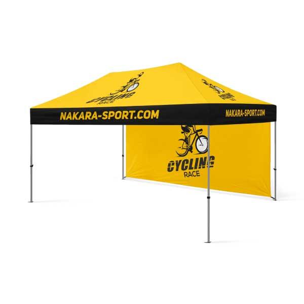 tente personnalisable pour événement sportif et course cycliste